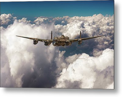 Metal Print featuring the photograph Avro Lancaster Above Clouds by Gary Eason
