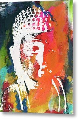 Awakened Buddha 5- Art By Linda Woods Metal Print