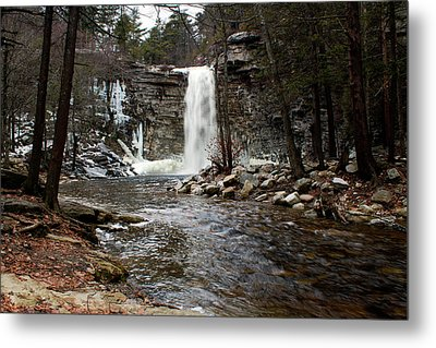 Awosting Falls In January #2 Metal Print by Jeff Severson