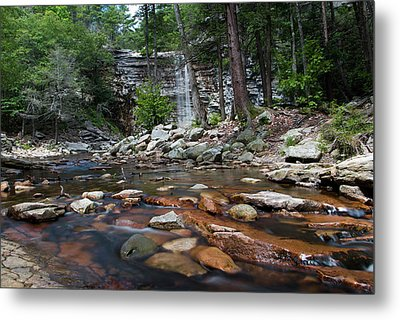 Awosting Falls In July Iv Metal Print by Jeff Severson