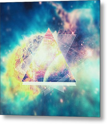 Awsome Collosal Deep Space Triangle Art Sign Metal Print by Philipp Rietz