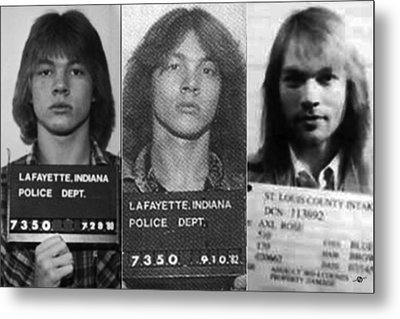 Axl Rose Mug Shots Through The Years Horizontal Photo Metal Print by Tony Rubino