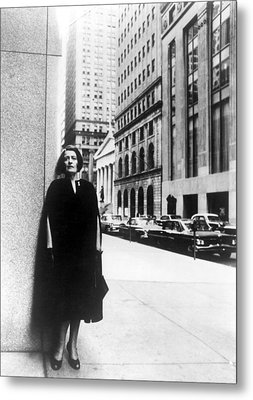 Ayn Rand Author Of Capitalism The Metal Print