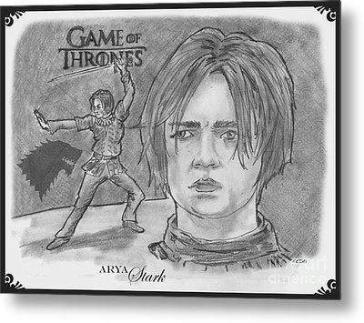 Ayra Stark Metal Print by Chris  DelVecchio