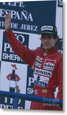 Ayrton Senna. 1989 Spanish Grand Prix Winner Metal Print