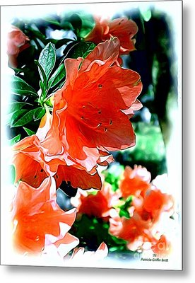 Metal Print featuring the painting Azaleas In The Spring by Patricia Griffin Brett