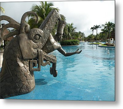 Metal Print featuring the photograph Aztec by Dianne Levy