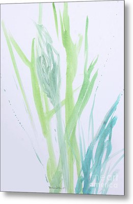 Azul Verdoso Silvery Rain  Metal Print by Robin Maria Pedrero