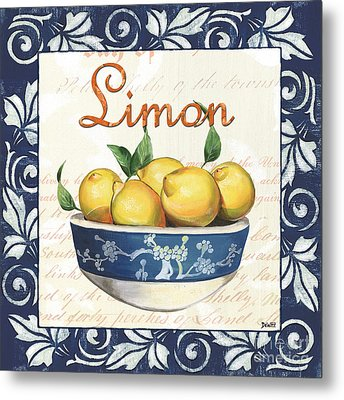 Azure Lemon 3 Metal Print
