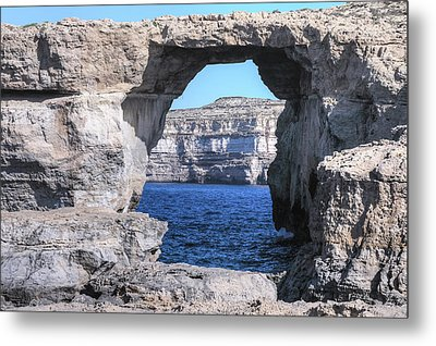 Azure Window - Gozo Metal Print by Joana Kruse