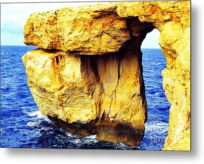 Azure Window Island Of Gozo Metal Print by Thomas R Fletcher