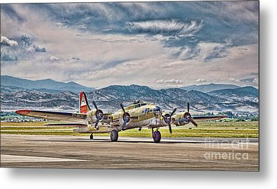 B-17 After A Rough Flight Metal Print