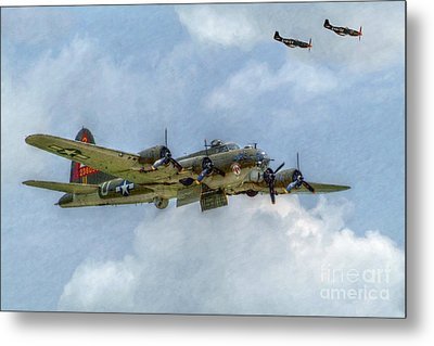 B-17 Flying Fortress Bomber  Metal Print