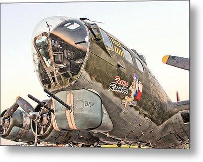 B-17 Texas Raiders Metal Print by Michael Daniels