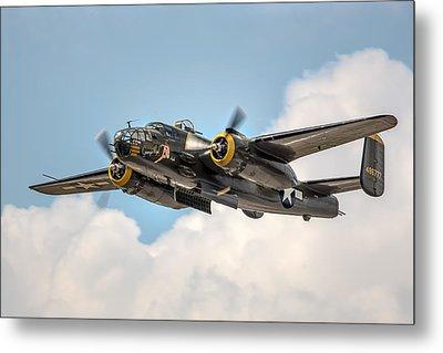 B-25 Georgie's Gal Metal Print by Bill Lindsay
