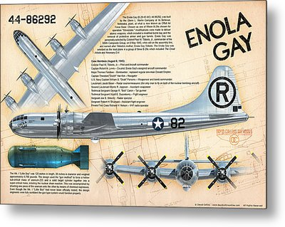 B-29 Enola Gay  Metal Print by David Collins