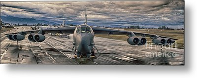 Metal Print featuring the photograph B-52 by Jim  Hatch