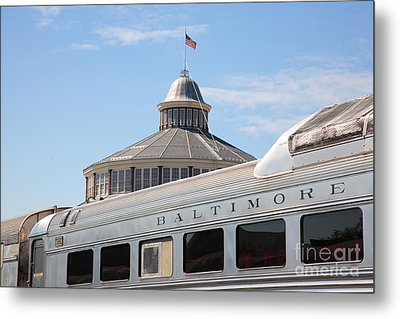 B And O Railroad Museum In Baltimore Maryland Metal Print by William Kuta