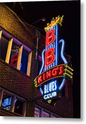 B B Kings On Beale Street Metal Print
