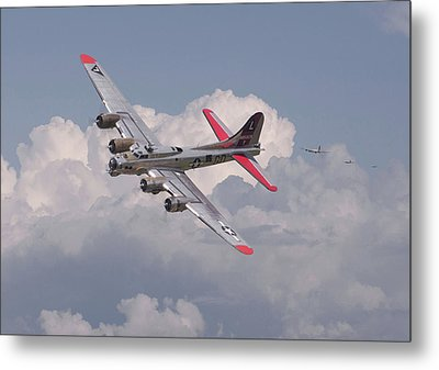 Metal Print featuring the photograph B17 - The Last Lap by Pat Speirs