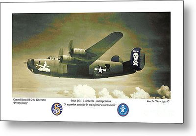 B24-pretty Baby Metal Print by Kenneth De Tore