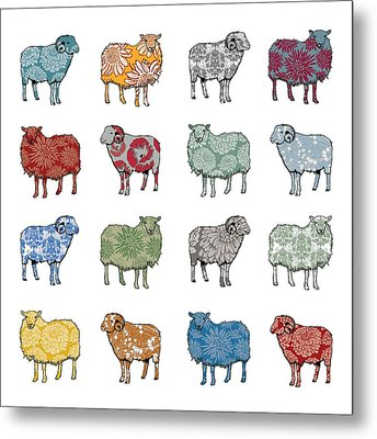 Baa Humbug Metal Print by Sarah Hough