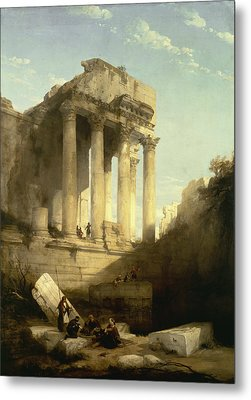 Baalbec - Ruins Of The Temple Of Bacchus Metal Print by David Roberts