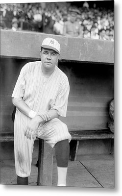 Babe Ruth, 1921 Metal Print by Everett