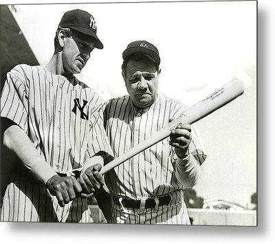 Babe Ruth And Lou Gehrig Metal Print by Jon Neidert