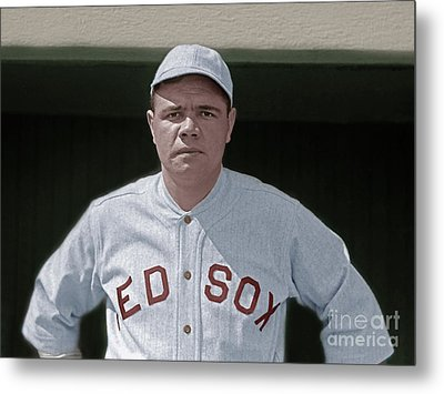 Babe Ruth Boston Red Sox Colorized 20170622 Metal Print