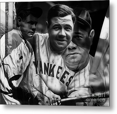 Babe Ruth Collection Metal Print by Marvin Blaine