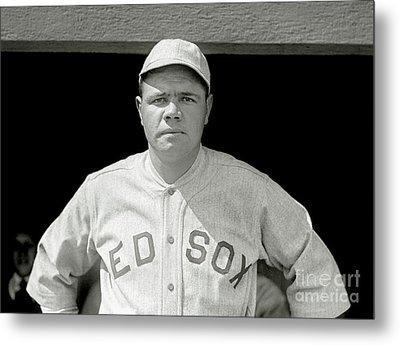 Babe Ruth Red Sox Metal Print