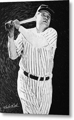 Babe Ruth Metal Print