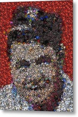 Babr Ruth Puzzle Piece Mosaic Metal Print by Paul Van Scott