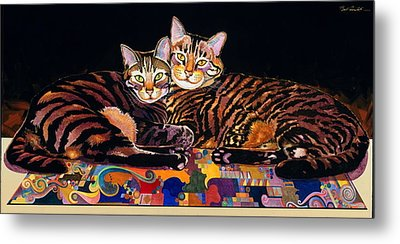 Baby And Critter Metal Print by Bob Coonts
