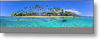 Baby Beach Above And Below Metal Print