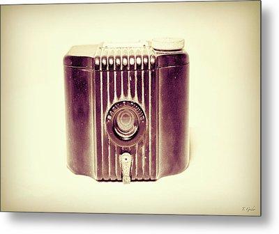 Baby Brownie Art Deco Camera In Sepia Metal Print