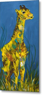 Baby Giraffe  Metal Print by Catherine Jeltes
