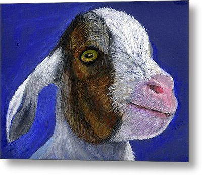 Baby Goat Metal Print by Angela Finney