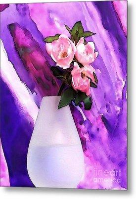 Baby Pink Bouquet Metal Print by Marsha Heiken