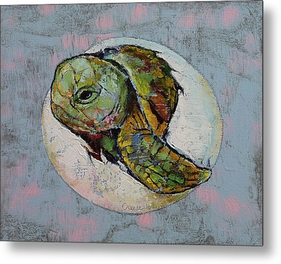 Baby Sea Turtle Metal Print by Michael Creese