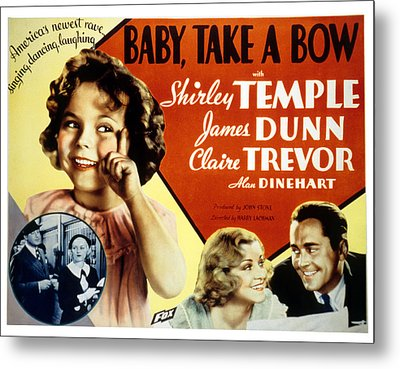 Baby Take A Bow, Shirley Temple, Claire Metal Print by Everett