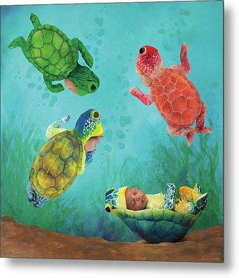Baby Turtles Metal Print