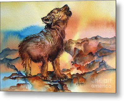 Baby Wolf Metal Print by Donna Martin