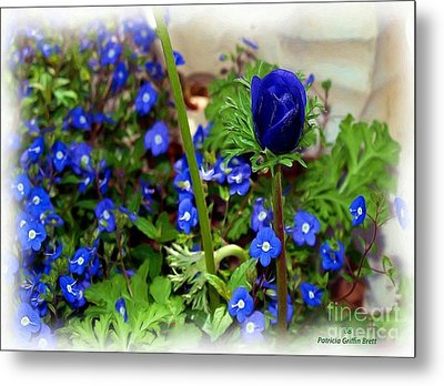 Metal Print featuring the painting Babys Got The Blues by Patricia Griffin Brett