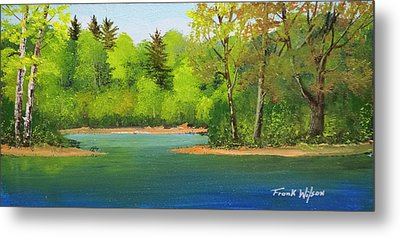 Metal Print featuring the painting Back Country Pond by Frank Wilson