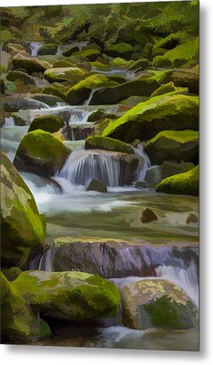 Back Country Stream II Metal Print by Jon Glaser