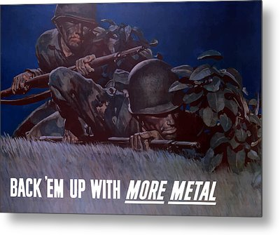 Back 'em Up -- Ww2 Metal Print by War Is Hell Store