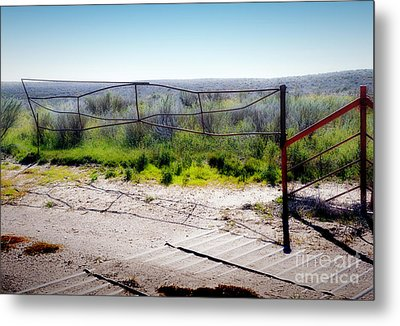 Back Gate Metal Print