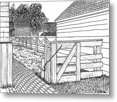 Back Gate To Garden And Pasture Metal Print by Dawn Boyer
